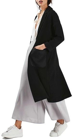 Topshop Satin Pocket Duster Coat