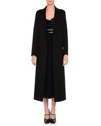 Valentino Notch Lapel Duster Coat Black