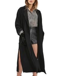 Topshop Velvet Pocket Duster Coat