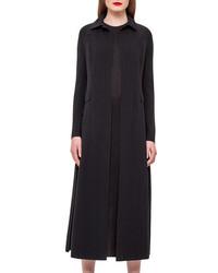 Akris Wool Blend Duster Coat Black
