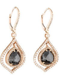 14k Hematite And Diamond Earrings