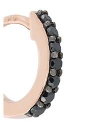 d525de7e15b06 Astley Clarke 14kt Gold Mini Halo Black Diamond Hoop Earrings, $689 ...