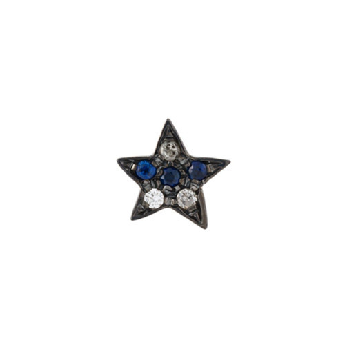 Carolina Bucci 18kt Black Gold Superstellar Star Stud Diamond Earring
