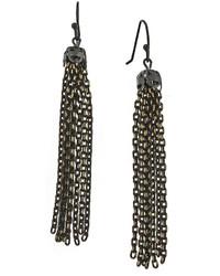 1928 Jewelry 1928 Mixed Metal Tassel Drop Earrings