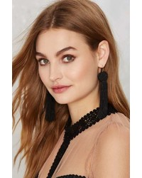 Vanessa Mooney Astrid Tassel Earrings Black