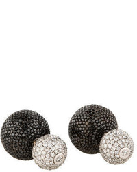 Black Diamond Ball Earrings