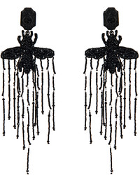 Gucci Bead Embellished Bee Earrings