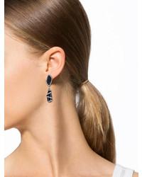 Black Druzy And Onyx Earrings