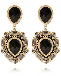 River Island Black Gemstone Statet Earrings