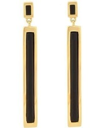 Maiyet Black Horn Drop Earrings Colorless