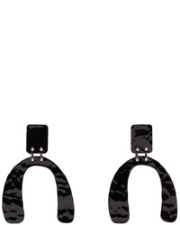 Proenza Schouler Black Small Hammered Earrings