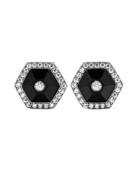 Fred Leighton Collection 18 Karat White Gold Jade And Diamond Earrings