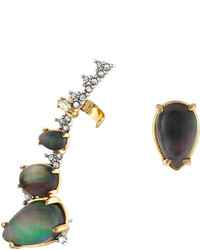 Alexis Bittar Crystal Encrusted Climber Stud Earring Set Mother Of Pearl