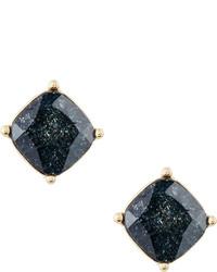 Lydell NYC Cushion Cut Cz Speckle Stud Earrings Black