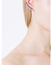 Alinka Dasha Black Diamond Left Side Large Slider Earring