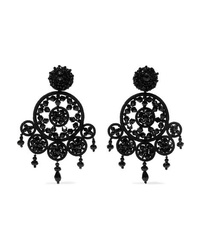Oscar de la Renta Dreamcatcher Bead And Silk Clip Earrings
