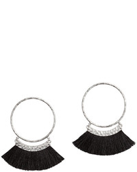 H&M Earrings With Fringe Blackgold Colored Ladies