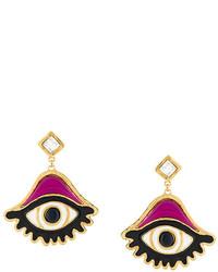 Dsquared2 Embellished Eye Earrings