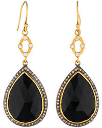 Sara Weinstock Faceted Spinel Diamond Halo Earrings