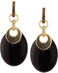 Alexis Bittar Infinity Link Dangle Earrings Black