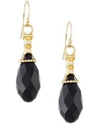 Jude Frances Judefrances Jewelry Laguna 18k Black Quartz Diamond Briolette Dangle Drop Earrings