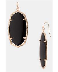 Kendra Scott Danielle Oval Statet Earrings Black Onyx