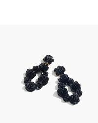 J.Crew Leather Backed Sequin Petal Earrings