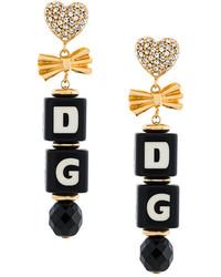 Dolce & Gabbana Logo Clip On Earrings