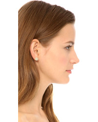 Marc By Jacobs Logo Disc Stud Earrings