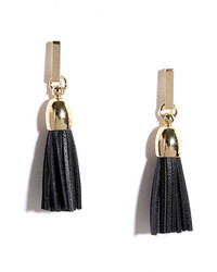 LuLu*s Fab Forever Black Tassel Earrings