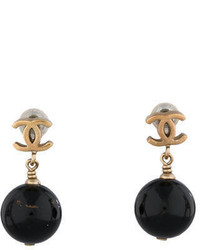 Chanel Mini Cc Drop Earrings