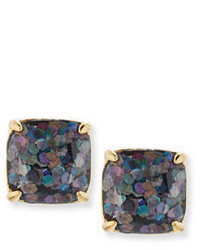 Kate Spade New York Small Glittered Square Stud Earrings