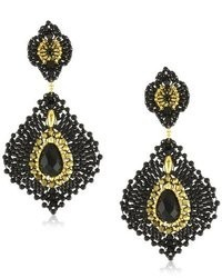 Miguel Ases Onyx Lotus Earrings