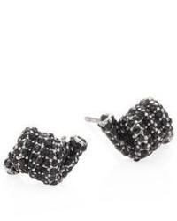 Marc Jacobs Pave Crystal Twisted Stud Earrings