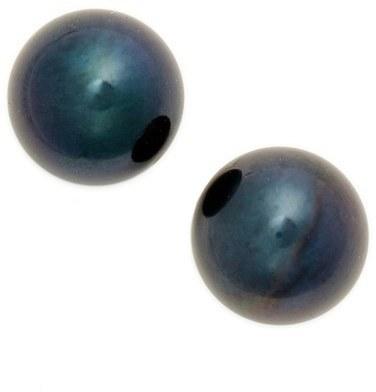 Poppy Finch Pearl Stud Earrings