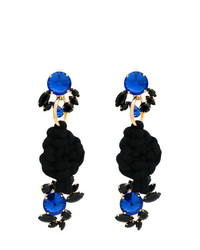 Marni Rope Knot Earrings With Faux Jewels
