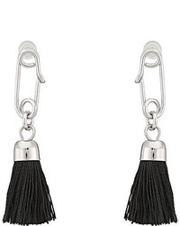 French Connection Safety Pin Tassel Drop Earrings
