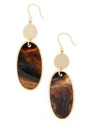 Nordstrom Semiprecious Stone Double Drop Earrings