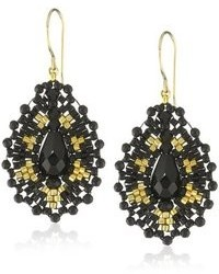 Miguel Ases Small Onyx Tear Drop Earrings