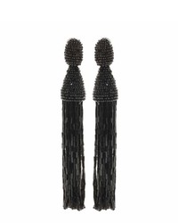 Oscar de la Renta Tassel Clip On Earrings