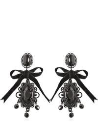 Dsquared2 Velvet Bow Crystal Earrings