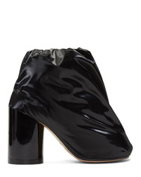 MM6 MAISON MARGIELA Black Padded Covered Ankle Boots