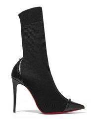 Christian Louboutin Dovi Dova 100 Studded Med Stretch Knit Sock Boots