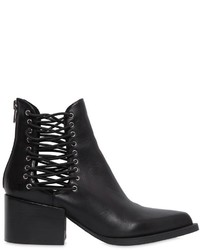 Windsor Smith 55mm Edme Elastic Leather Ankle Boots