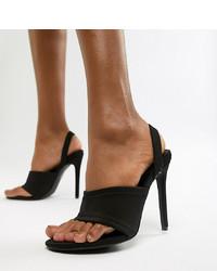 Missguided Sling Back Heeled Sandal In Black