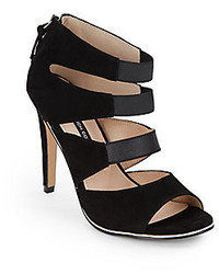 Suede elastic strappy sandals medium 127836