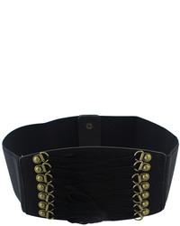 Brown Pu Leather Elastic Wide Fashion Waist Belt