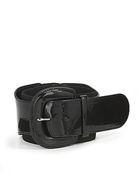 Lauren Ralph Lauren Wide Patent And Elastic Stretch Belt