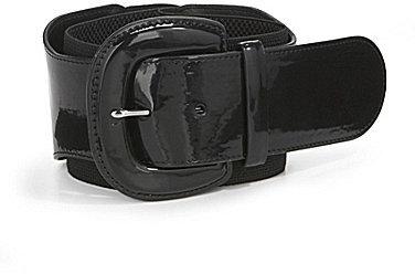 Lauren Ralph Lauren Wide Patent And Elastic Stretch Belt