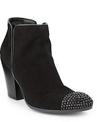 Black Embellished Ankle Boots